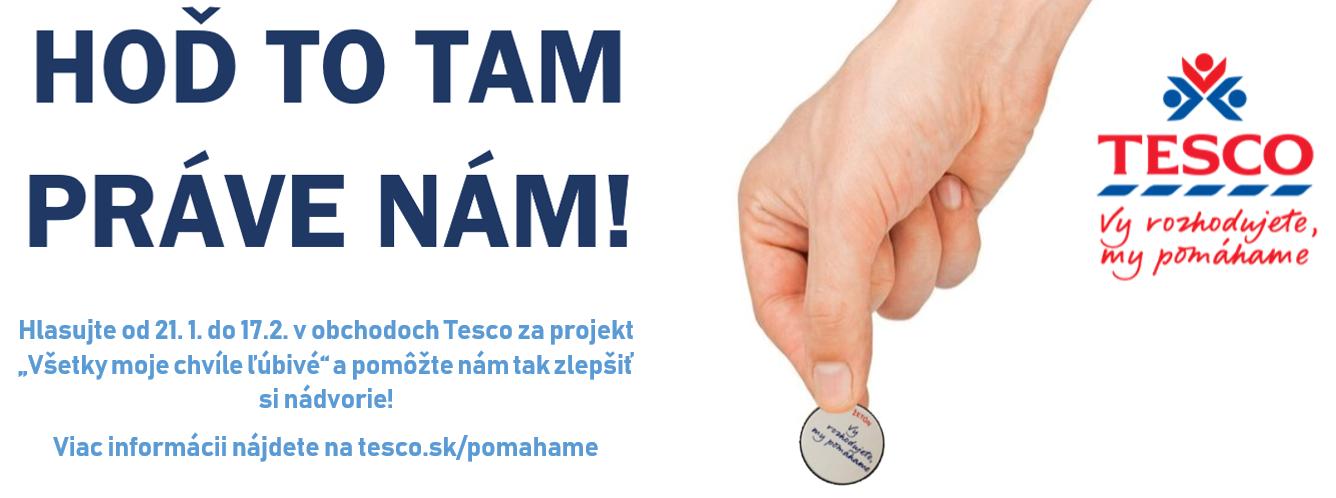 Hlasujte za náš projekt v obchodoch Tesco